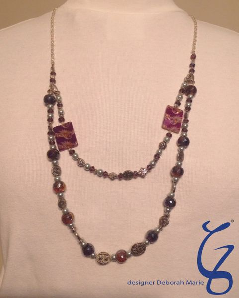 Purple Bling with Celtic Charm