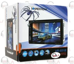 "SOUNDSTREAM VR-651B IN-DASH 2-DIN 6.5"" TV DVD CD MP3 USB BLUETOOTH EQUALIZER"