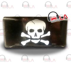 Skull Novelty Car Metal License Plate