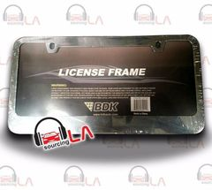 LICENSE PLATE FRAME ACCESSORIES SILVER CHROME