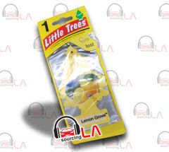 Little Trees Hanging Car and Home Air Freshener, Lemon Grove(Pack of 24)