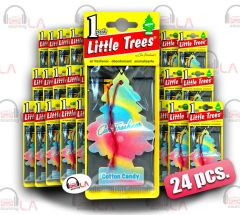 Little Trees Hanging Car and Home Freshener, Cotton Candy Scent(Pack of 24)