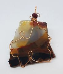 Copper Wire Wrapped Arizona Agate