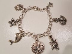 Sea Themed Charm Bracelet
