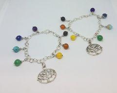 Tree of Life Chakra Charm Bracelet