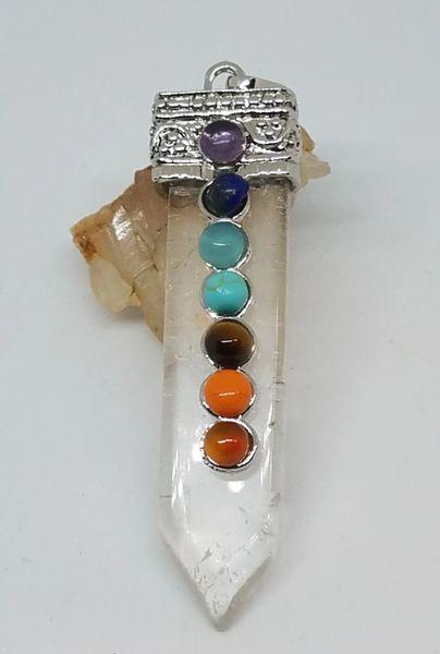 Clear Quartz Chakra Pendant