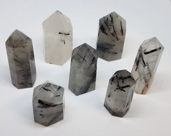 Tourmalated Quartz Points