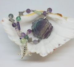 Rainbow Fluorite Necklace