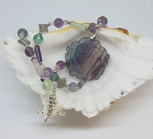 Rainbow Fluorite Necklace