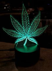 Cannabis / Pot leaf night light