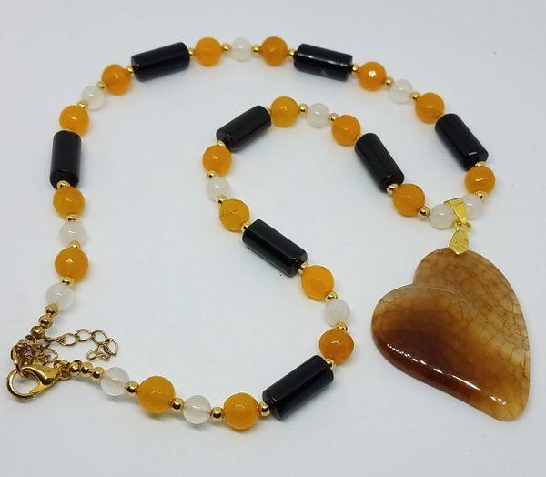 Dragon Vein Heart Necklace
