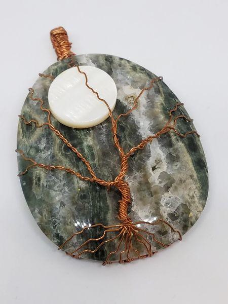 Ocean Jasper Tree of Life Pendant