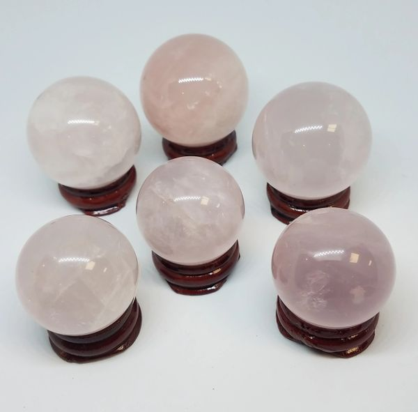 Rose Quartz Spheres