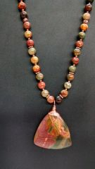 Jasper and Copper Necklace SOLD