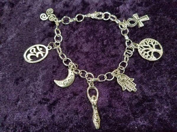 Pagan / fantasy charm bracelet 4 styles