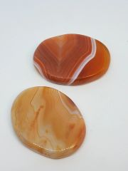 Carnelian Palm Stones - Banded