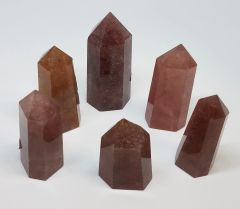 Strawberry Quartz Points