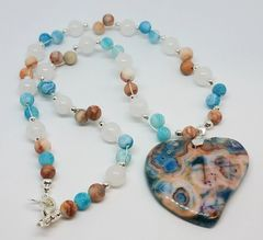 Crazy Lace and Agate Necklace