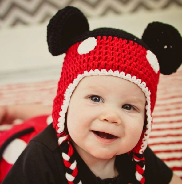 Crazy Character Handmade Crocheted Mickey   Minnie Hats Sizes  47b49c44010