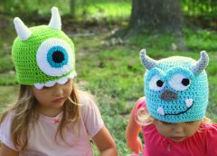 Monster Inc. Handmade Crocheted Hats For All Sizes