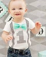 Design Your Own First Birthday Baby Onesy For A BOY