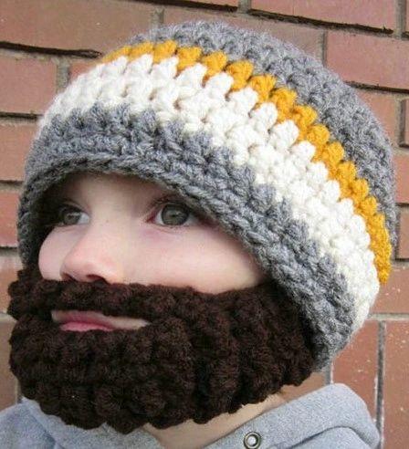 Crazy Character Handmade Crocheted Bearded Hats Sizes Nic Nac Stop