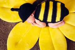 Crocheted Handmade Bumble Bee 2 Piece Set for Baby