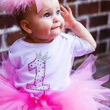 Design Your Own First Birthday Baby Onesy For A GIRL
