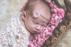 Crocheted Handmade Photograher Prop Baby Blankets