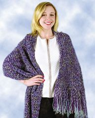 FREE CROCHETED Pattern - Purple Beginner Shawl