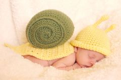 Crocheted handmade Snail 2 piece set for baby