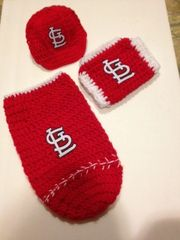 "Crocheted Handmade ""Design Your Own"" 3 Piece Baseball set"