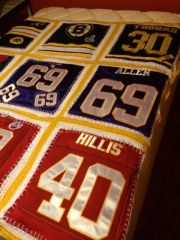 Handmade T-Shirt or Jersey Quilted/Afghan Blanket