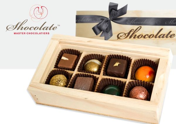 Shocolate 8 piece timber gift box