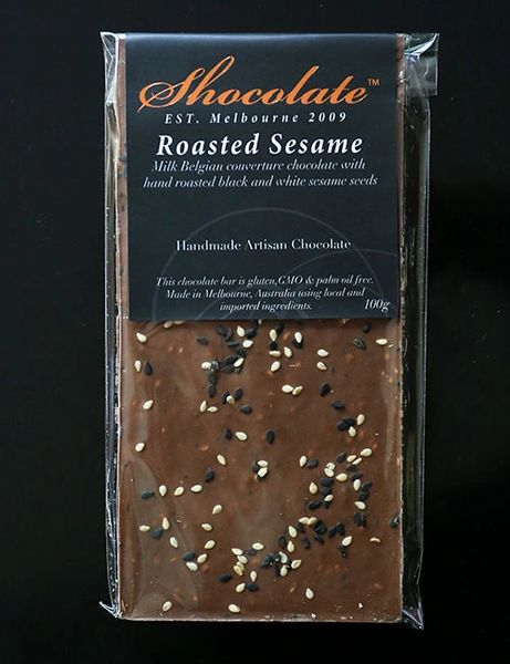 Milk Roasted Couverture Chocolate with Roasted Sesame