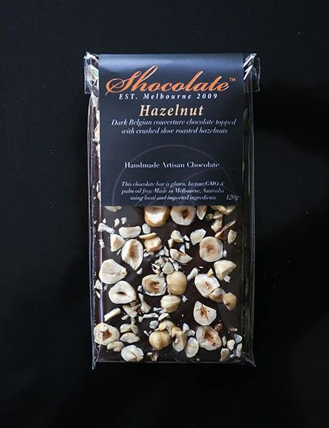 Dark Couverture Chocolate ith Roasted Crushed Hazelnuts