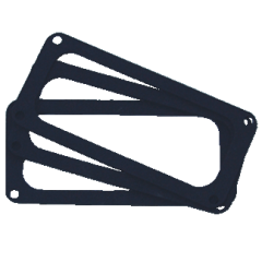 TV Jones Pickup Foam Shims - pack of 2 shims - for use with DeArmond Pickups - foam shims