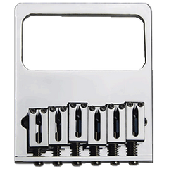 TV Jones Original Tele (Savalas) Bridge Plate - No Ears (NE) Filter'Tron - 4 hole / 6 saddle mount