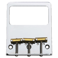 TV Jones Modern Tele (Savalas) Bridge Plate - No Ears (NE) Filter'Tron - 3 hole / 3 saddle mount