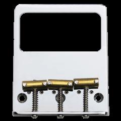 TV Jones Modern Tele (Savalas) Bridge Plate - No Ears (NE) Filter'Tron - 3 hole / 3 saddle mount