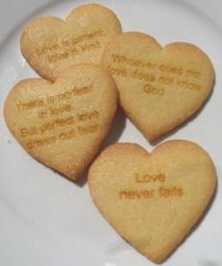 Scripture Cookies, HEART 12 pcs