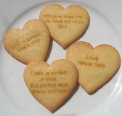 Scripture Cookies, HEART 48 pcs