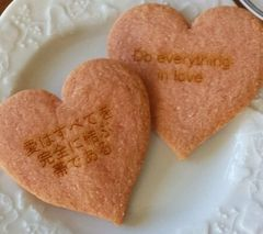 Scripture Cookies, HEART 24 pcs