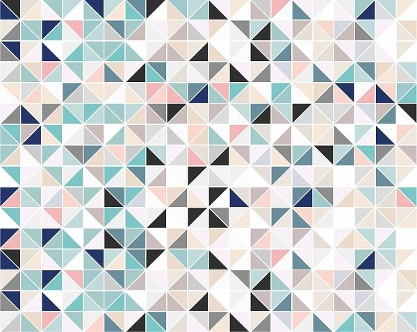 Geometric Pastell Wall Mural From Fabric And Wallpaper Shop