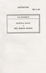 (1940) Technical Manual No. 11-410: The Homing Pigeon