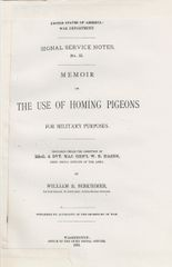 (1882) The Use of Homing Pigeons for Military purposes