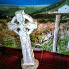Celtic Standing Stone Cross of Western Isles of Scotland - Celtic Imagery