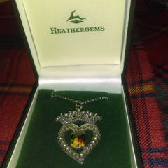 Pendant - Scottish Heathergems Luckenbooth by Charles Buyers Company of Scotland