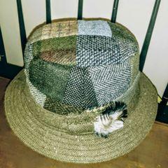 Irish Tweed Patchwork Walking Hat - Hanna Hats of Donegal