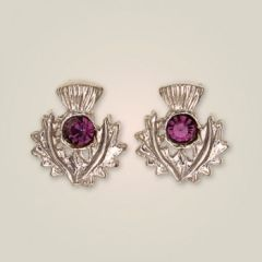 Thistle Earrings - Art Pewter of Scotland